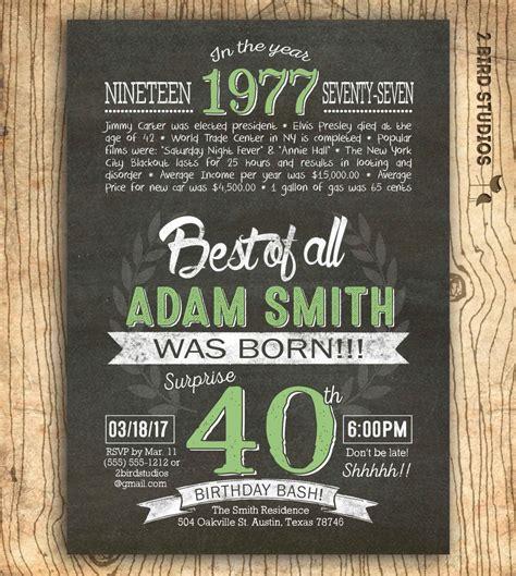 40th birthday invitation Surprise 40th birthday invite
