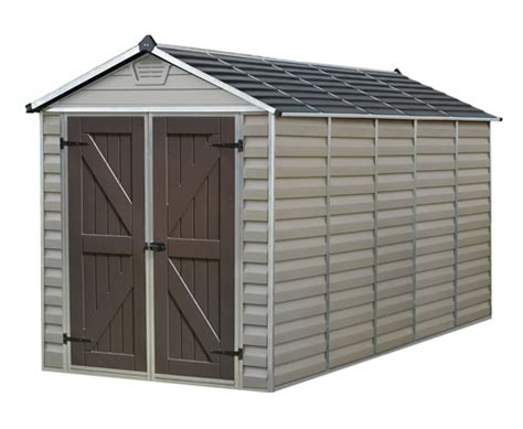 6 x 12 shed kit palram 6x12 plastic shed kit w skylight roof floor