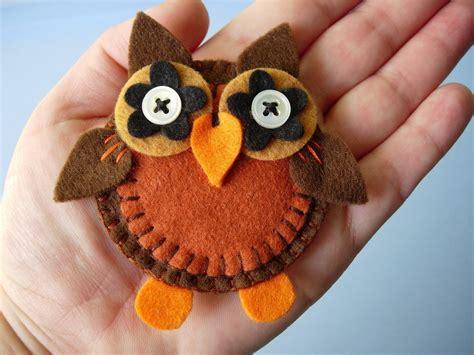 owls  fabric animal brooch sewing  cut