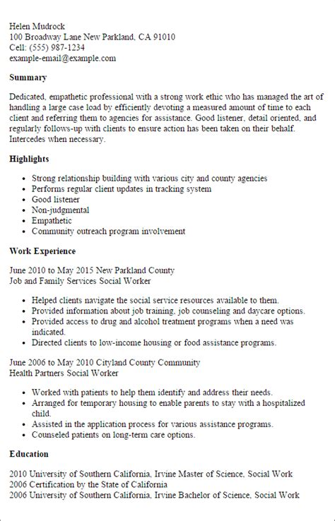 Social Services Resume Exles by Resume Social Services Counselor Resume Templates
