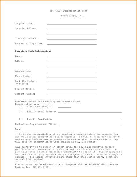 images  eft authorization form template leseriailcom