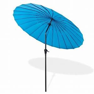 Sonnenschirm 2 M Durchmesser : sonnenschirm gartenschirm tokio rund 2 5 m blau ~ Markanthonyermac.com Haus und Dekorationen