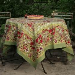 Patio Tablecloth With Umbrella Hole by Provence Soleil French Tablecloths French Provence