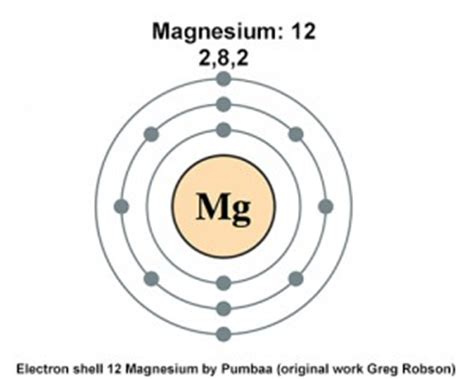 Protons Of Magnesium by Magnesium Has 12 Protons How Many Electrons Are In Its
