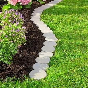 Bordure De Jardin : bordure de jardin galets variables lot de 12 pi ces ~ Melissatoandfro.com Idées de Décoration