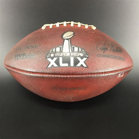 Nfl Auction Nfl Super Bowl 49 Game Used Football