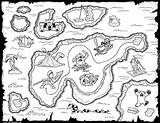 Treasure Coloring Map Pages sketch template