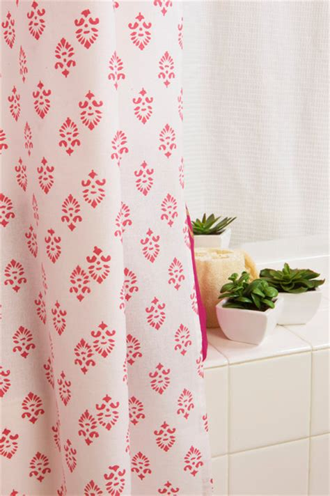 floral fabric shower curtains tropical bath products
