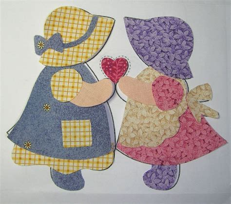 Patchwork Applique by Sunbonnet Sue Quilt Pattern Tuesday July 13 2010