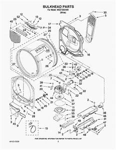 Whirlpool Wed7300xw0 Parts List And Diagram