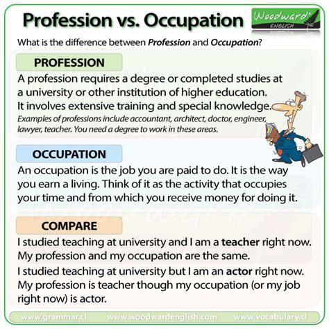 difference  profession  occupation