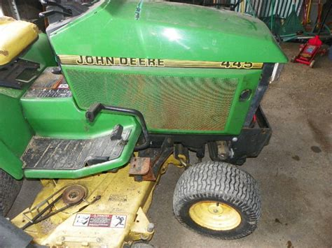 Deere Mower Deck Removal by Deere 445 Tractor 54 Quot Mowing Deck Snow Removal