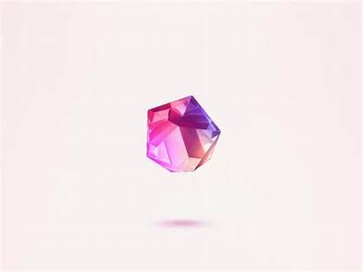 Gem Floating Crystal Dribbble Shot Icon