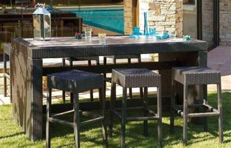 table de jardin resine tressee pas cher table bar de jardin pas cher