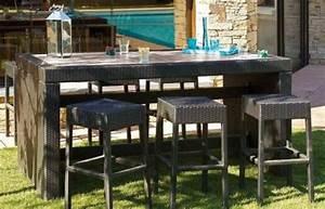Ensemble De Jardin Pas Cher : table bar de jardin pas cher ~ Dailycaller-alerts.com Idées de Décoration