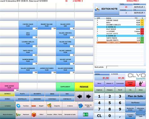 module de cuisine clyo systems fonctionnalités du logiciel de caisse encaissement et gestion de salle