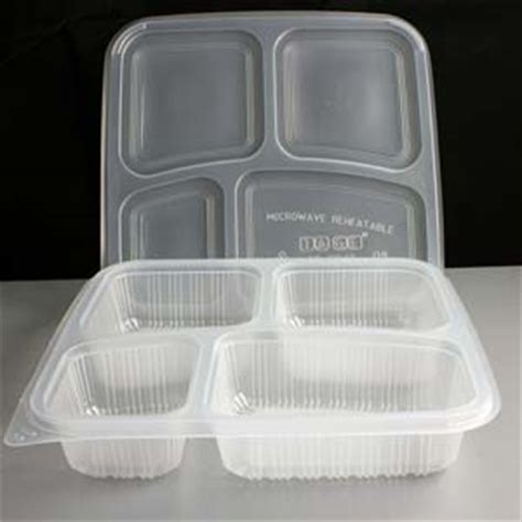 clear  compartment square plastic container  lid