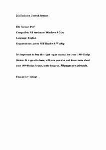 1999 Dodge Stratus Service Repair Workshop Manual Download