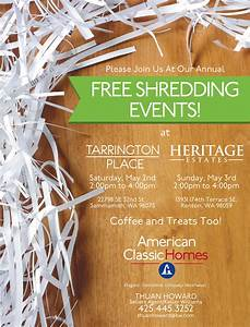 two free shredding events this month american classic With who shreds documents for free