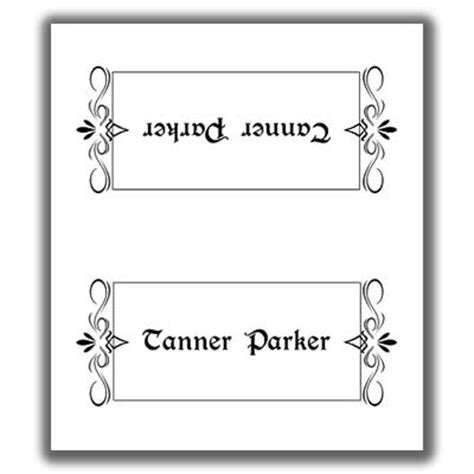 Sided Place Card Template by Place Card Template 2