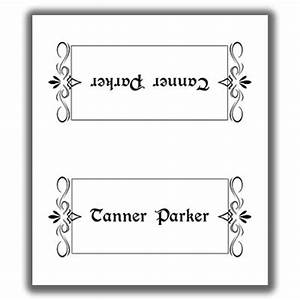 place card template 2 With double sided place card template