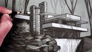 How to Draw a House: Draw Fallingwater