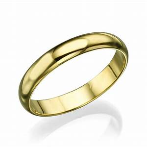 Men39s Gold Wedding Band 36mm Solid Yellow Gold Ring
