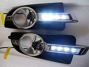 Super Bright Osram Led Chips Led Daytime Running Lights Drl With Fog Lamp Cover  Led Fog Lamp
