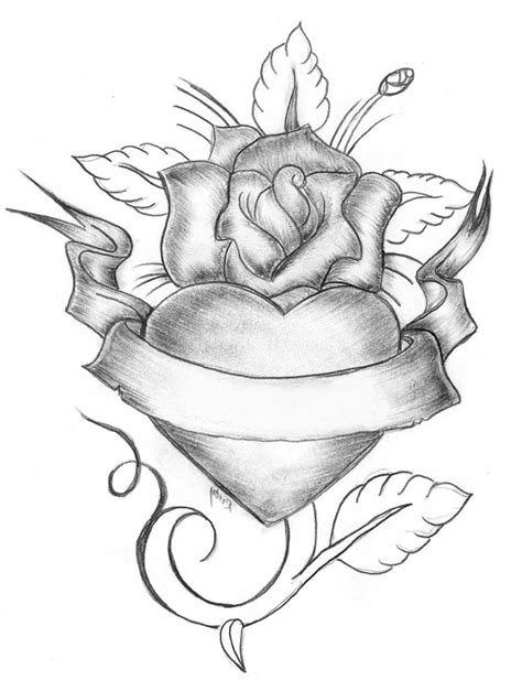 Drawing With Hearts | Roses drawing, Heart drawing, Sketches