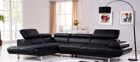 canape peu profond canapé d 39 angle gauche cuir noir hudson