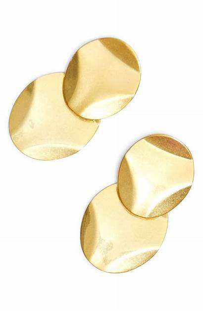 Statement Hammered Earrings Madewell Disc Womens