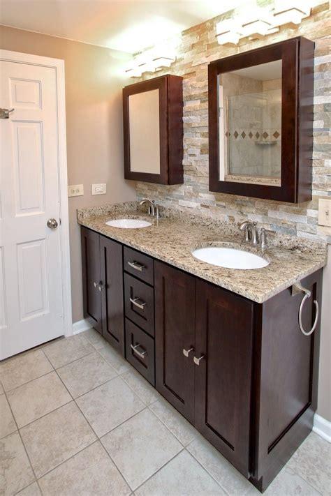 Espresso Bathroom Cabinets by Shaker Cabinets In Stock Espresso Birch Wood Bathroom