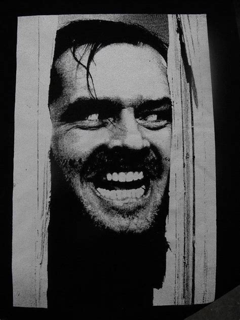 Pin D Iconic Black White 01 the shining backpatch horror scary in 2019