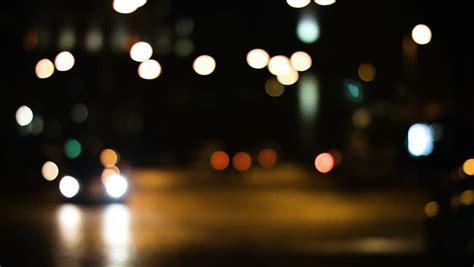focus lights   street  night stock footage