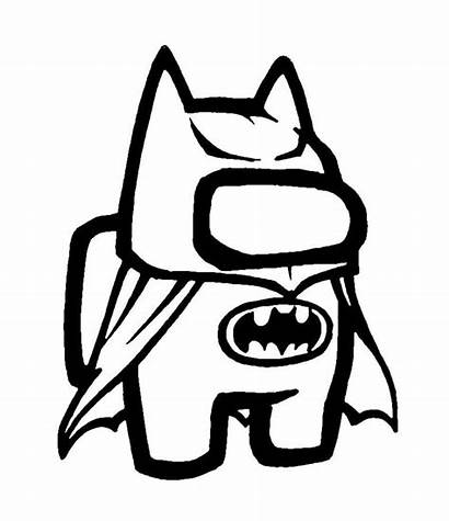 Among Coloring Batman Pages Printable Monster