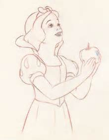 Snow White Apple Drawing