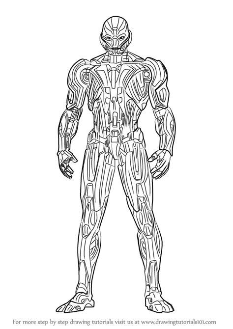 learn   draw ultron marvel comics step  step drawing tutorials