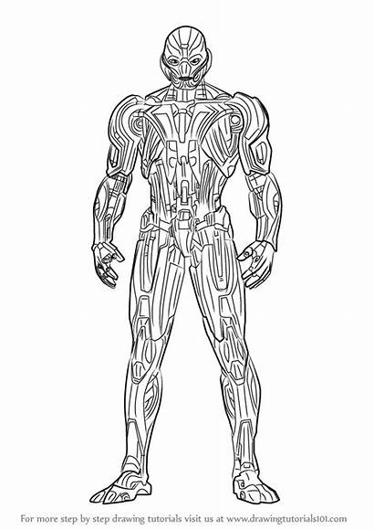 Ultron Draw Drawing Step Marvel Characters Comic