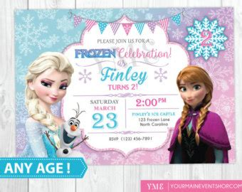 Frozen Birthday Party Invitations Etsy Lijicinu