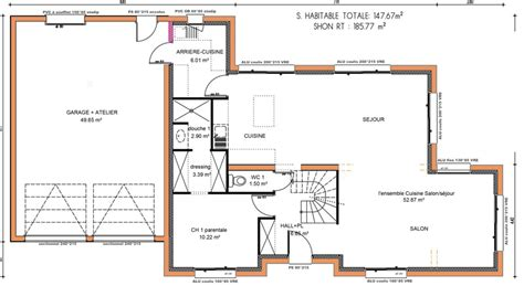 maison 5 chambres plan maison a etage 5 chambres