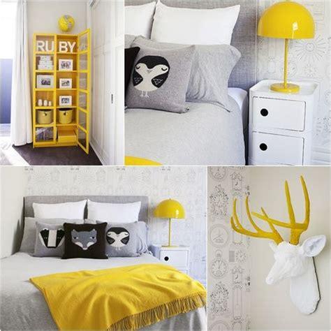 deco chambre jaune déco chambre jaune et gris