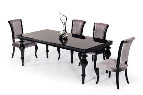 Esstisch Schwarz Hochglanz by Modrest Nayri Transitional Black High Gloss Dining Table