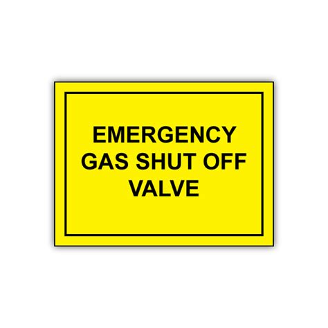 Emergency Gas Shut Off Valve Engraved Sign