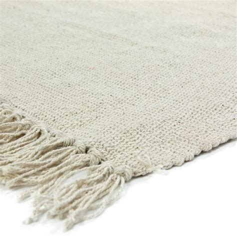 petit tapis 224 franges 233 cru en coton 50x80cm simply tapis premier prix thedecofactory