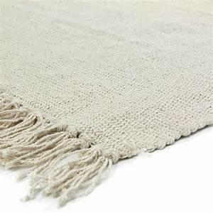 Tapis A Frange : petit tapis franges cru en coton 50x80cm simply tapis premier prix ~ Teatrodelosmanantiales.com Idées de Décoration
