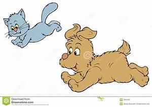 Dog Chasing Cat Clipart – 101 Clip Art