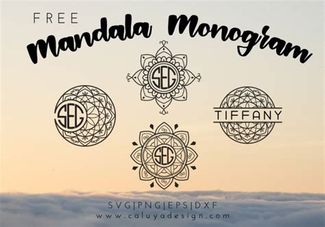 Well you're in luck, because here they come. Mandala Monogram Free SVG, PNG, DXF & EPS DOWNLOAD