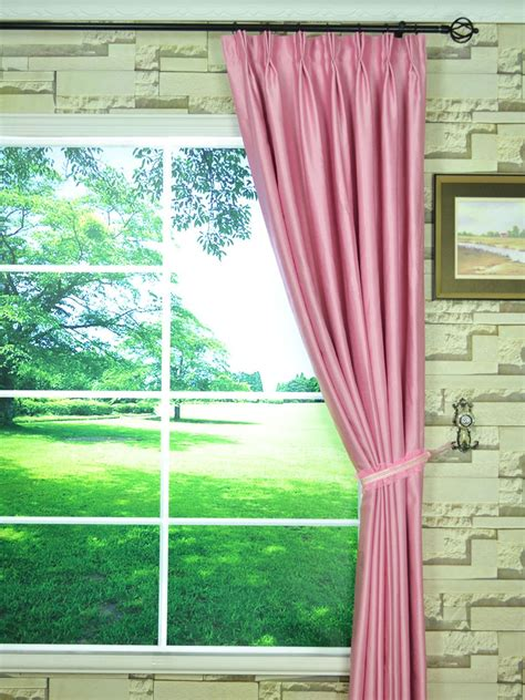 Ready Made Pinch Pleat Drapes - swan pink and solid pinch pleat ready made curtains