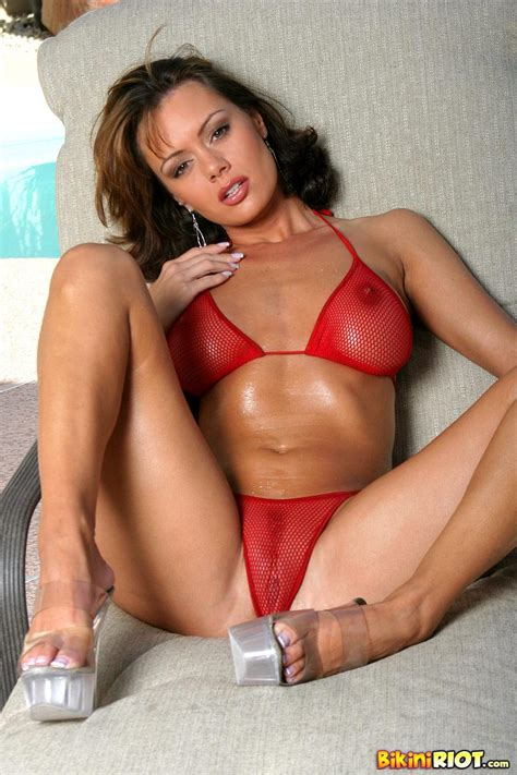 Crissy Moran Flaunts Her Juicy Ass In A Red Thong Bikini Coed Cherry