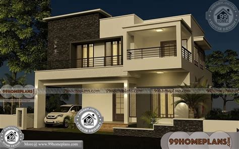 villa house plans   elevations box type modern collections